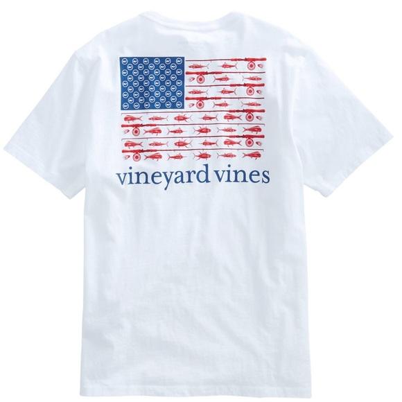 9362d627 Vineyard Vines Shirts | Reel American Flag Tshirt Large | Poshmark